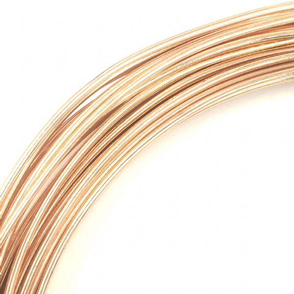 Aluminium wire - 10 metre coil - thickness 1mm - colour champagne / rose gold